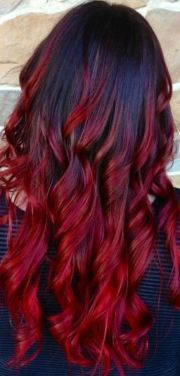 red and black hair ombr. pretty