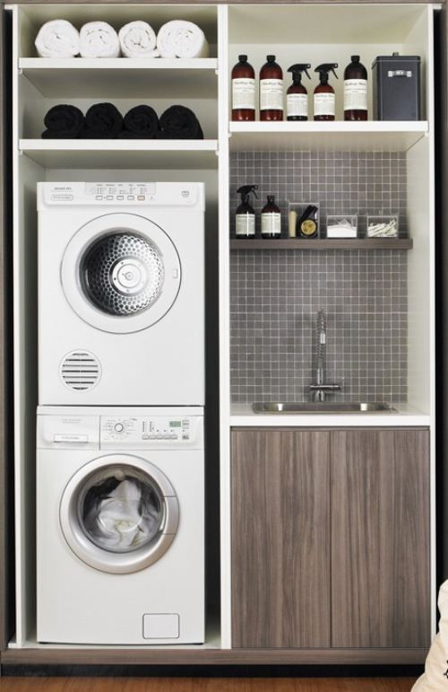 small laundry utility bathroom ideas | Spruce up your LAUNDRY room (23 photos) » laundry-room-14