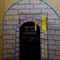 Classroom door decoration castle | Bible Class activity ...