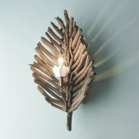 Driftwood Leaf Wall Sconce