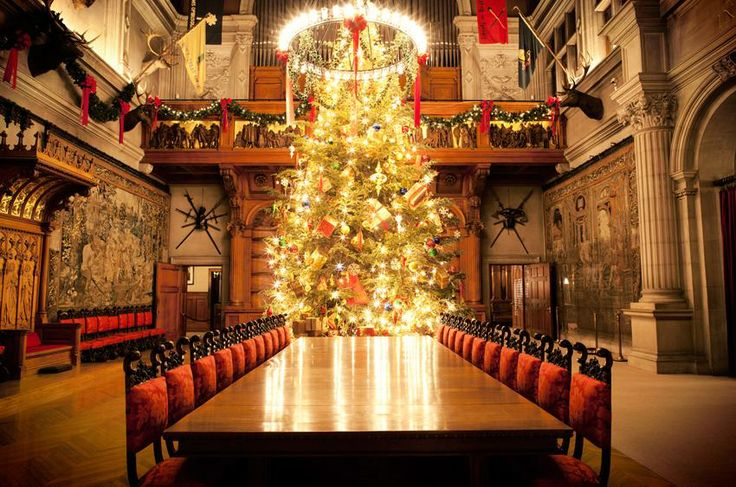 Christmas at the Biltmore House in Asheville, NC ... featuring the 40' NC Fraser Fir Tree in the Great Banquet Hall, and amazing Christmas decorations, including 68 decorated trees in the house and 55 others around the Estate.