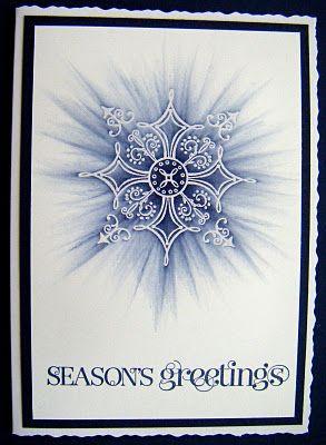 Sponged Emboss Resist Snowflake...stunning!!!