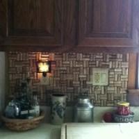 Wine cork backsplash | interior design | Pinterest