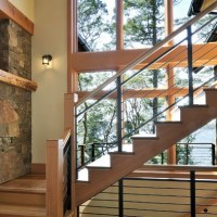 rustic modern stair railing | my dream home | Pinterest