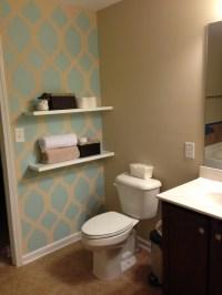 Bathroom accent wall