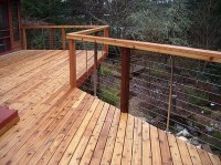 deck cable railing | Beach House Garden | Pinterest