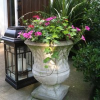 My front porch planter   Flowers and greenery   Pinterest