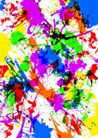 Splatter Paint Walls | Bedroom Design | Pinterest