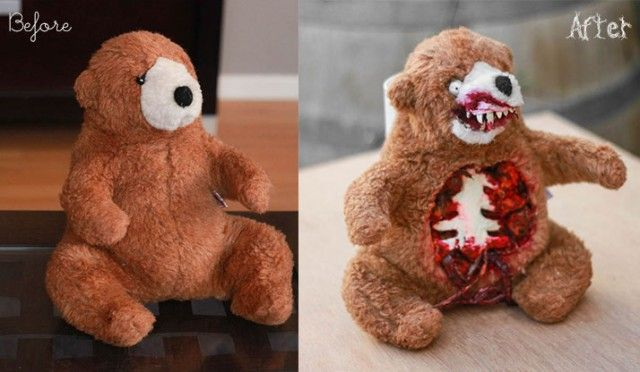 Terror Teddy - DIY Before/After http://www.surpriseaholic.com/2013/10/terror-teddy-diy/