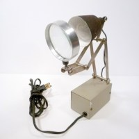 Industrial Magnifying Work Lamp by Easton and Belt