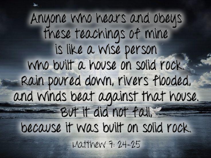 Image result for build house on rock scripture