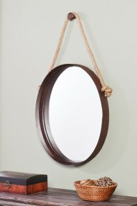 Nautical Mirror. | Beach decor ideas | Pinterest