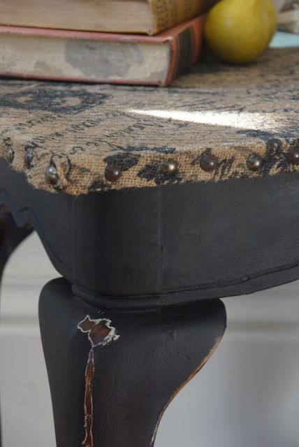 Burlap Topped Table