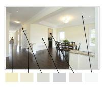 Open floor plan color scheme | Lair | Pinterest