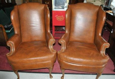 Leather Wingback Chairs Ebay