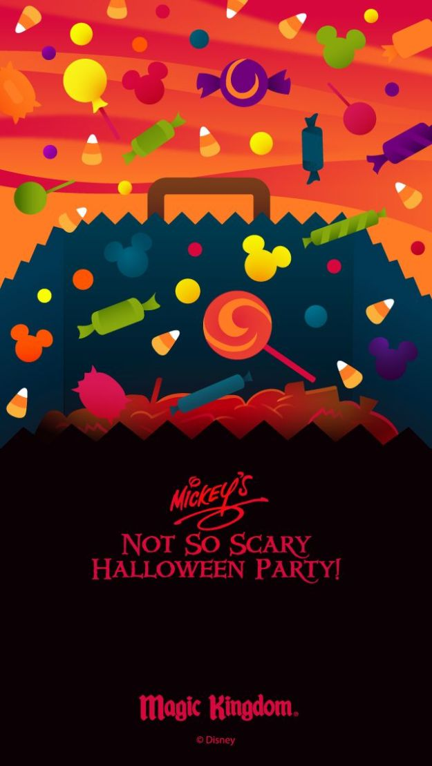 Walt Disney World Halloween cell phone wallpapers #NotSoScary