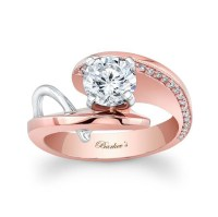 White gold and rose gold   Engagement Rings   Pinterest