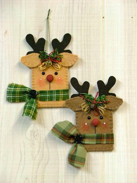 Tree Trimmers Too!  fieltro: Reindeer Gift Card Holder