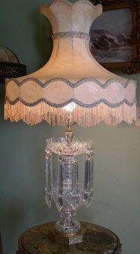 "Stunning Vintage/Antique Cut Glass Lamp-10 1/2"" Frog ..."