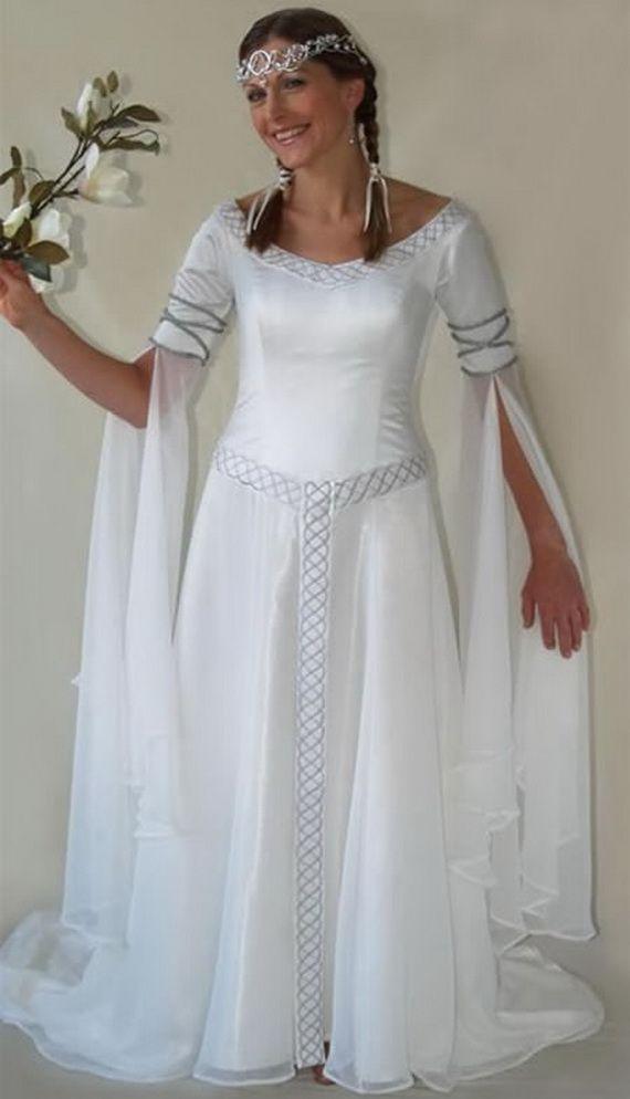 Celtic Wedding Dress  Celtic women  Pinterest