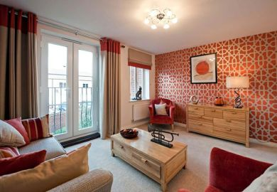 Brown And Orange Living Room