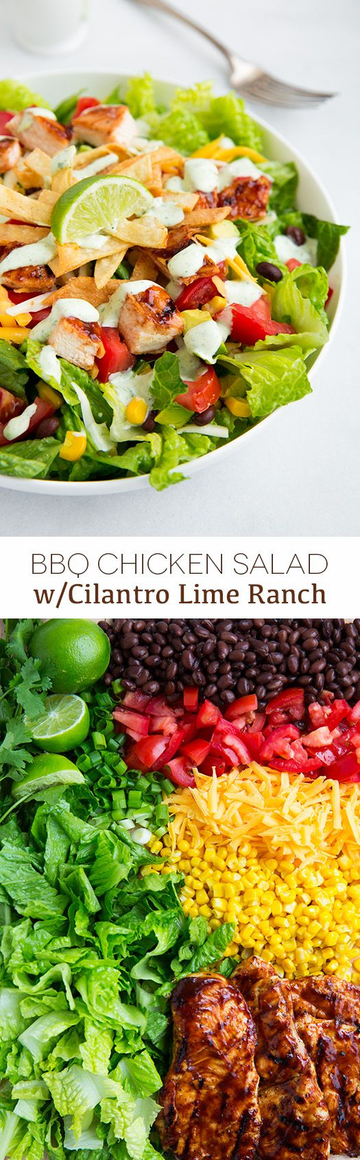 BBQ Chicken Salad with Cilantro Lime Ranch - this salad is amazing!