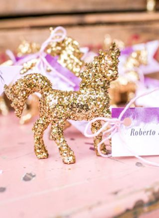 glitter-horse-ecort-card
