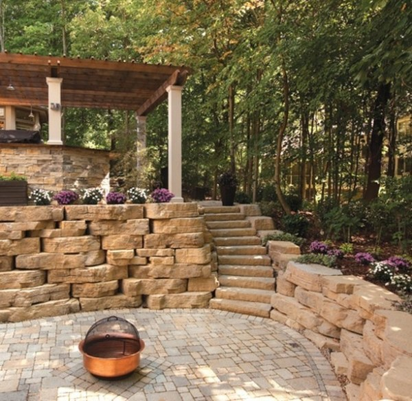 rosetta outcropping stone landscaping