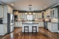Cream colored cabinets!   Kitchens   Pinterest