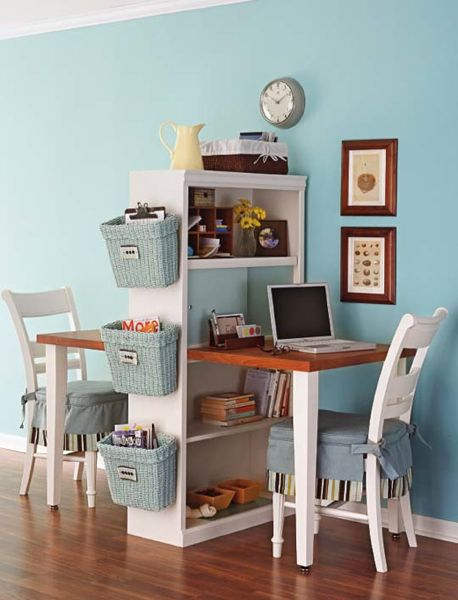 """Two simple home """"offices"""" in very little space, perfect for solopreneurs"""