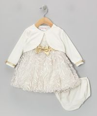 White And Gold: White And Gold Baby Dress