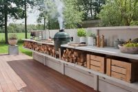 Concrete outdoor kitchen by WWOO | For the Home | Pinterest