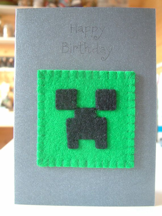 Minecraft Birthday Card Cake Ideas And Designs