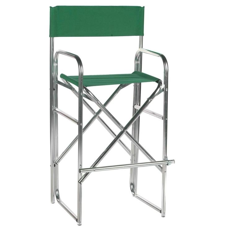 305 Inch Aluminum Frame Bar Height Directors Chair  www