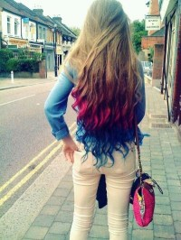 Crazy Colored Ombre Hair! :> | Hair | Pinterest