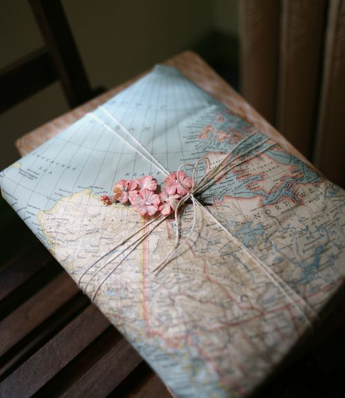 this would be a great idea for going-away presents for missionaries. cut the map around the state or country where they're going.