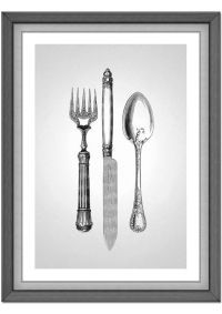 Fork Knife Spoon - Cutlery - Kitchen decor - Dining Room ...
