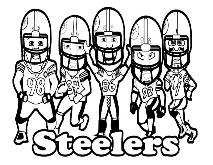 nfl football steelers coloring page  kids coloring pages