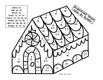 Christmas Multiplication Coloring Worksheets 5th Grade