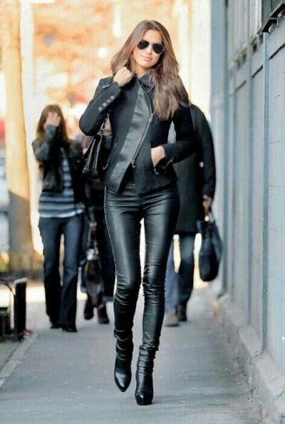Love this leather look, I want this jacket!!!!!