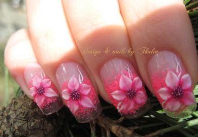 3d Nail Art Acrylic Flowers