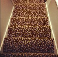 leopard stairs |  Decorating Inspirations  | Pinterest