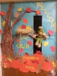 Fall daycare door decorations   Work   Pinterest