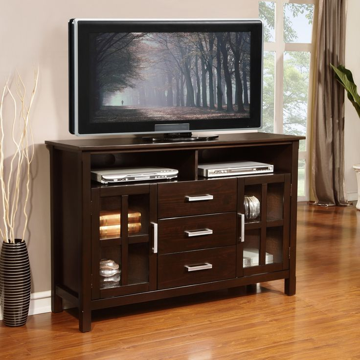 Waterloo Walnut Brown Tall TV Media Stand  Overstockcom