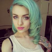 pretty pastel green hairstyle