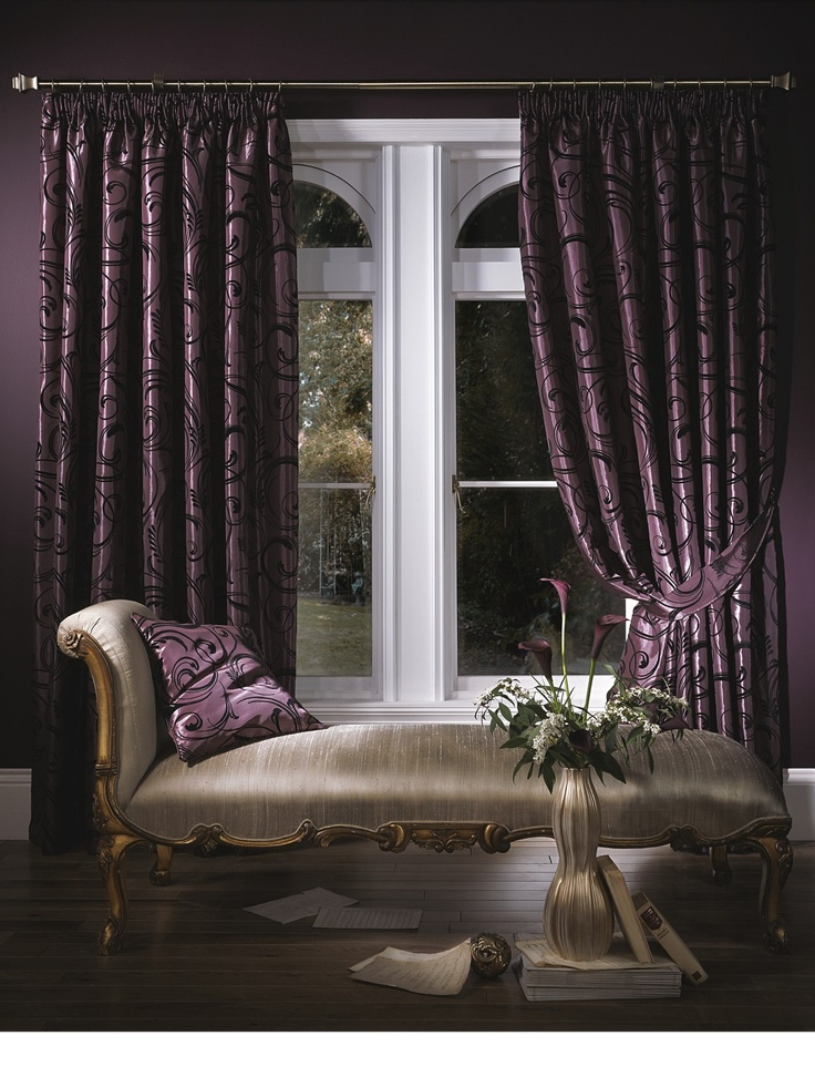 deep purple curtain luxury  Bedroom inspiration  Pinterest