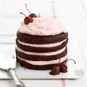 Chocolate Cherry Stack Cake: Try this decadent dessert recipe that features the delicious blend of chocolate and cherries. Treat yourself tonight!