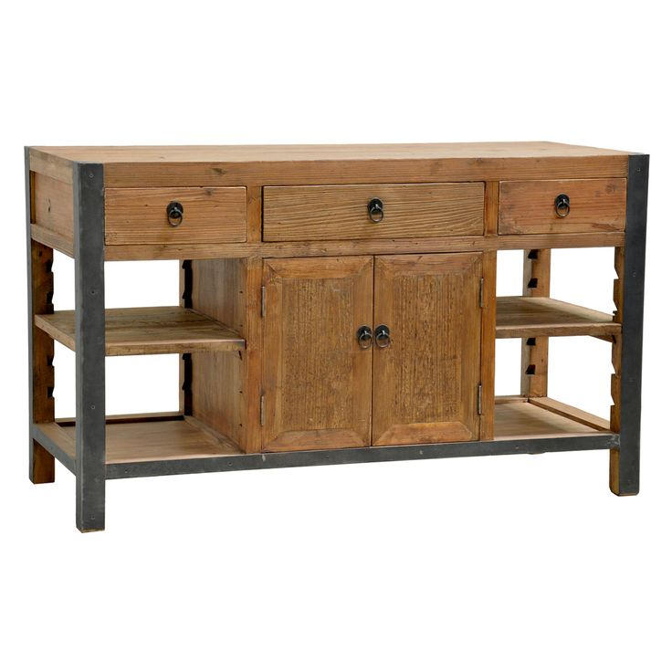 Willow Pine Portable Kitchen Island