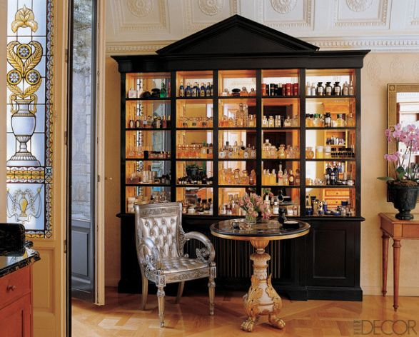 perfume display cabinet  My old French house  Pinterest