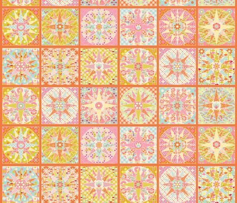 spring_sunshine_cheater_quilt_orange_M - nadja_petremand - Spoonflower